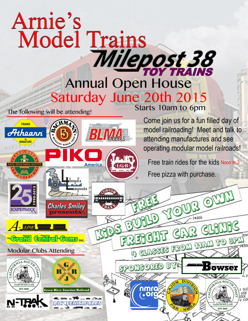 Arnie's Model Trains and Milepost 38's Open House